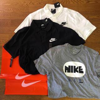 ナイキ(NIKE)のナイキ半袖ポロシャツ白色黒色各1枚 半袖Tシャツ1枚(その他)
