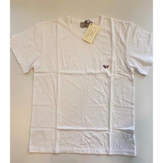 メゾンキツネ(MAISON KITSUNE')の【XSサイズ】新品 メゾンキツネ Maison Kitsune Tシャツ 白(Tシャツ/カットソー(半袖/袖なし))