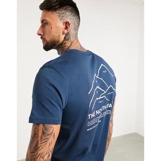 ザノースフェイス(THE NORTH FACE)の【Mサイズ】新品タグ付き ノースフェイス ピークスTシャツ ブルー(Tシャツ/カットソー(半袖/袖なし))