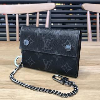 ルイヴィトン(LOUIS VUITTON)の超美品 ルイヴィトン モノグラムエクリプス チェーンコンパクトウォレット(折り財布)
