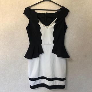 デイジーストア(dazzy store)のドレス 白 黒 ミニスカート フォーマル dazzy(ミニドレス)