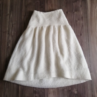 ドゥロワー(Drawer)の【定価39600円】2019 SHE tokyo モヘアシャギースカート 38(ロングスカート)