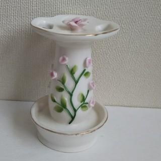 歯ブラシスタンド  陶器製  ヴィンテージ(歯ブラシ/歯みがき用品)