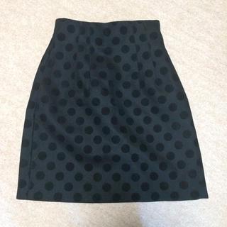 ルシェルブルー(LE CIEL BLEU)のルシェルブルーのドットスカート(ひざ丈スカート)
