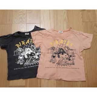 familiar - Tシャツ 二枚セット ファミリア スヌーピー 90