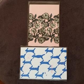 ミナペルホネン(mina perhonen)のミナペルホネン『つづく展』ポストカード2枚(使用済み切手/官製はがき)