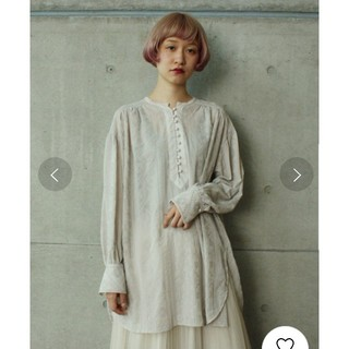 note et silence - cardo fabrica 楊柳シフォン総刺繍ギャザーチュニックブラウス