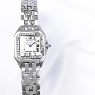 Cartier - 【仕上済】カルティエ パンテール ベゼル1重ダイヤ レディース 腕時計