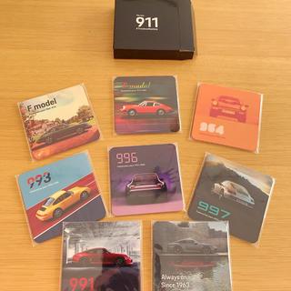 ポルシェ(Porsche)の歴代911オリジナルコースターセット(ノベルティグッズ)