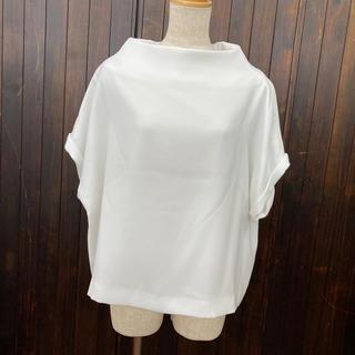 エンフォルド(ENFOLD)のENFOLD 白半袖トップス38(カットソー(半袖/袖なし))
