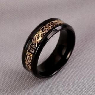 BLACK  stainless 龍紋 RING(リング(指輪))