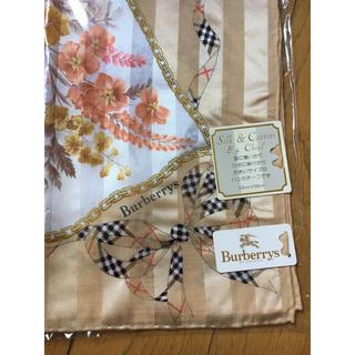 バーバリー(BURBERRY)の新品 Burberrys 大判 ハンカチーフ 58㎝ Silk&Cotton(バンダナ/スカーフ)