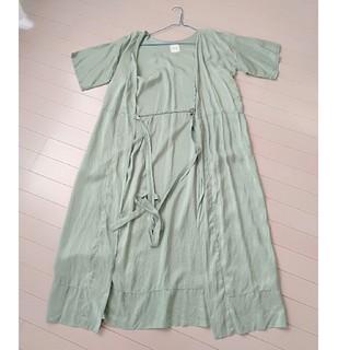 ソウソウ(SOU・SOU)のsousou絹 羽織 ロング丈(ロングワンピース/マキシワンピース)