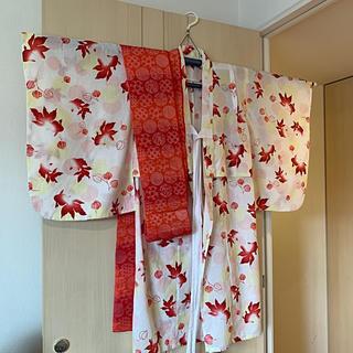 浴衣 女の子 綿100%  帯付き 130cm(甚平/浴衣)