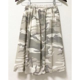 テチチ(Techichi)のルノンキュール 迷彩柄 チュールスカート カモフラ(ひざ丈スカート)