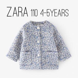 ザラキッズ(ZARA KIDS)のZARA ベビー キッズ フラワー柄 パフジャケット 110 size(ジャケット/上着)