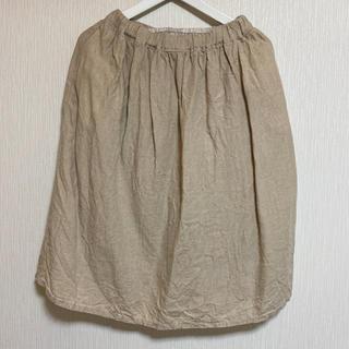 ムジルシリョウヒン(MUJI (無印良品))の無印良品 ペチコート付きスカート(ひざ丈スカート)