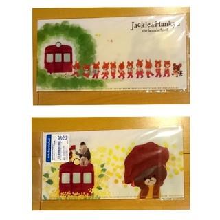 クマノガッコウ(くまのがっこう)の【新品】くまのがっこう ジャッキー & 阪急 チケットホルダー(こうしん柄) (キャラクターグッズ)