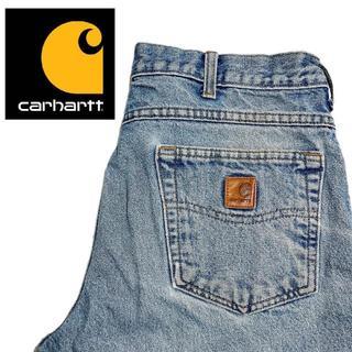カーハート(carhartt)の【Carhartt】US古着 ワイドデニムパンツ 34×32 ワーク A008(デニム/ジーンズ)