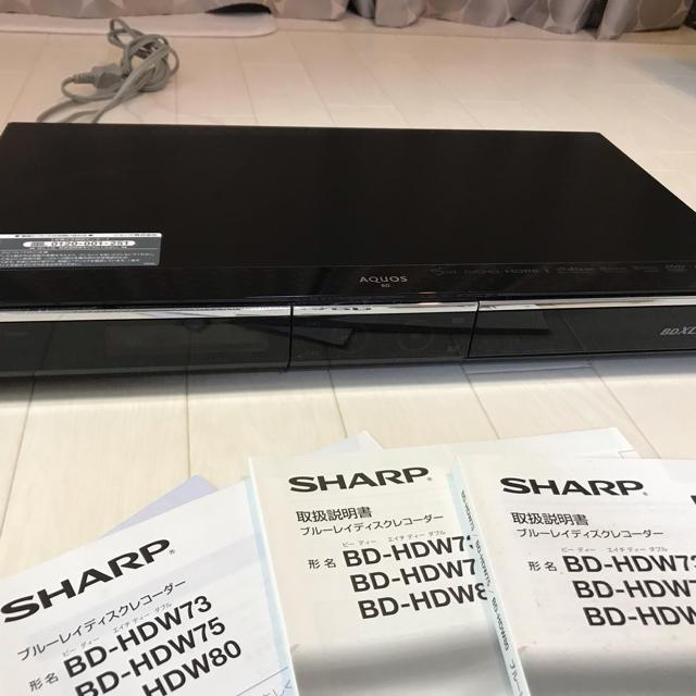 SHARP(シャープ)のシャープ ブルーレイレコーダー BD-HDW80 ジャンク品 スマホ/家電/カメラのテレビ/映像機器(ブルーレイレコーダー)の商品写真