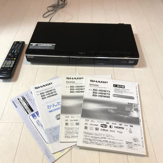 SHARP - シャープ ブルーレイレコーダー BD-HDW80 ジャンク品