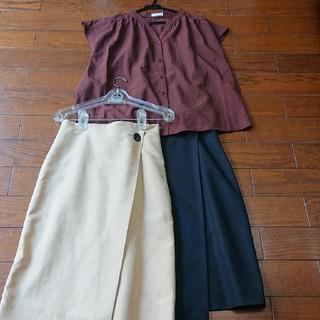 トゥモローランド(TOMORROWLAND)の新品のブラウスMと(used)のtommorrowlandスカート2枚セット(セット/コーデ)