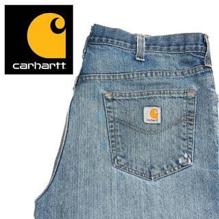 カーハート(carhartt)の【Carhartt】US古着 デニムストレートパンツ 38×32 A002(デニム/ジーンズ)