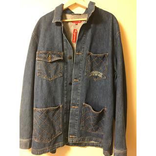 シュプリーム(Supreme)のsupreme diamond stitch denim chore coat (カバーオール)