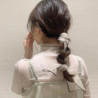 mystic - 再入荷 ❤︎ white organdy scarf ❤︎