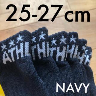 ATHLETA - 3足組ATHLETA アスレタ25-27cmアンクルソックス靴下ネイビー