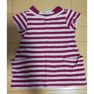 サンカンシオン(3can4on)のボーダーTシャツ95サイズ(Tシャツ/カットソー)