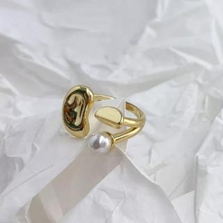 ロキエ(Lochie)のNuance pearl gold ring No.440(リング(指輪))