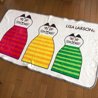 Lisa Larson - 新品未使用!リサラーソン 特大サイズのブランケット