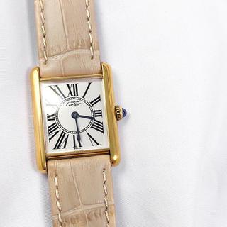 Cartier - 【仕上済】カルティエ タンク オパラン文字盤 ゴールド レディース 腕時計