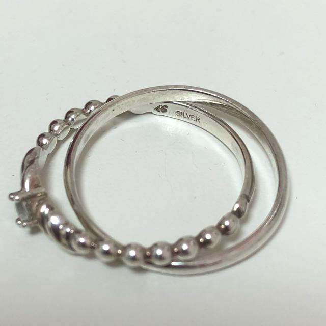 4℃(ヨンドシー)の4℃ SILVER 2連 リング 16号 レディースのアクセサリー(リング(指輪))の商品写真