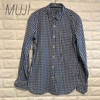 MUJI (無印良品) - 【MUJI】コットンギンガムチェックシャツ