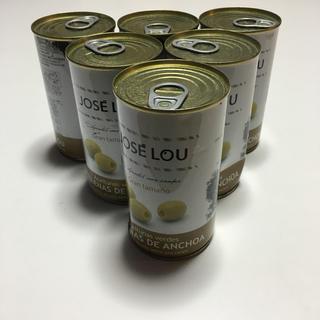 ホセルー アンチョビ入りグリーンオリーブ 150g×6缶 ワインおつまみ (缶詰/瓶詰)