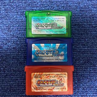 ゲームボーイアドバンス(ゲームボーイアドバンス)のGBA エメラルド,サファイア,ファイアレッド 3本セット(携帯用ゲームソフト)