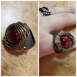 ビームス(BEAMS)のRED stone design RING リング 指輪 (リング(指輪))