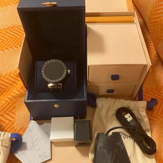 ルイヴィトン(LOUIS VUITTON)のルイヴィトン タンブールホライゾン QA00  42 BLK ST(腕時計(デジタル))