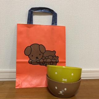 スタディオクリップ(STUDIO CLIP)のミッフィー×スタジオクリップ ボウル 2個セット食器 限定紙袋付(食器)