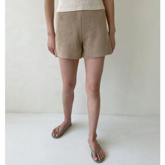 Kastane(カスタネ)のcepto サマーニットショートパンツ レディースのパンツ(ショートパンツ)の商品写真