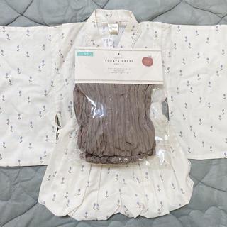 フタフタ(futafuta)のtete a tete 浴衣ドレス チューリップ柄 95(甚平/浴衣)