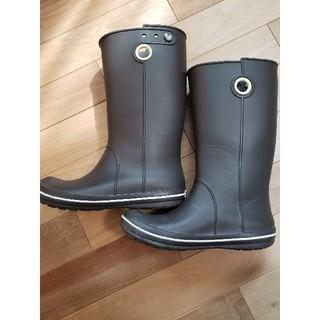 クロックス(crocs)のクロックス crocs レディース レインブーツ 長靴 25センチ(レインブーツ/長靴)