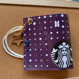 スターバックスコーヒー(Starbucks Coffee)のBTS スタバ ショッパー リメイク マスクカバー テテイニシャルバージョン(アイドルグッズ)