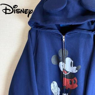 ディズニー(Disney)の【 Disney ビッグ長袖パーカー ミッキーフード オーバーサイズ 古着 】(パーカー)