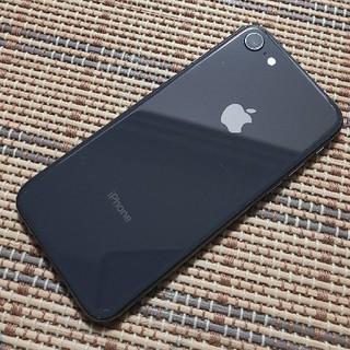 アイフォーン(iPhone)のau iPhone8 64GB ブラック 訳あり(スマートフォン本体)