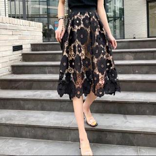 dholic - フラワー刺繍スカート