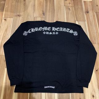 Chrome Hearts - レア クロムハーツ スクリプト バックロゴ ロングスリーブ Tシャツ サイズXL