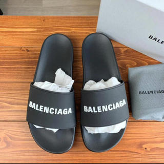 Balenciaga - 【新品 未使用】 バレンシアガ プールロゴサンダル